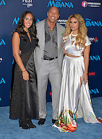 "HOLLYWOOD, CA - NOVEMBER 14: Simone Alexandra Johnson, Dwayne Johnson and Dinah Jane Hansen attend the AFI FEST 2016 Presented By Audi - Premiere Of Disney's ""Moana"" at the El Capitan Theatre in Hollywood, California on November 14, 2016. Credit: Koi Sojer/Snap'N U Photos/MediaPunch"