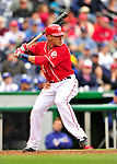 24 April 2010: Washington Nationals' shortstop Ian Desmond in action against the Los Angeles Dodgers at Nationals Park in Washington, DC. The Dodgers edged out the Nationals 4-3 in a thirteen inning game. Mandatory Credit: Ed Wolfstein Photo