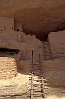 Anasazi cliff dwellings, Long House on Wetherhill Mesa, Mesa Verde National Park, Colorado, U.S.A.