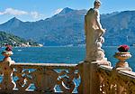 The gardens of Villa del Balbianello on Lake Como, Italy