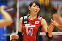 Yukiko Ebata (JPN), .May 26, 2012 - Volleyball : .FIVB Women's Volleyball World Final Qualification for the London Olympics 2012 .match between Japan 0-3 Russia .at Tokyo Metropolitan Gymnasium, Tokyo, Japan. .(Photo by Daiju Kitamura/AFLO SPORT) [1045]