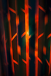 Glass backlit with multi colored lights making abstract patterns of color and shapes