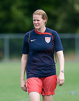 Cindy Parlow. The USWNT practice at WakeMed Soccer Park in preparation for their game with Japan.