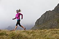Sarah Ridgeway on her morning training run in the Snowdonia National Park, North Wales