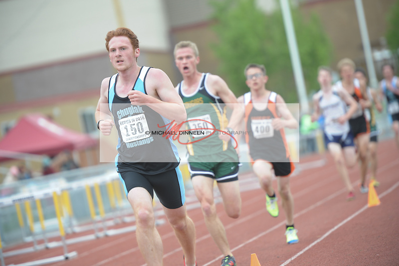 Chugiak's Roan Hall finished 11th in the 3200 meter run at the Region IV Track and Field Championships.  Photo by Michael Dinneen for the Star