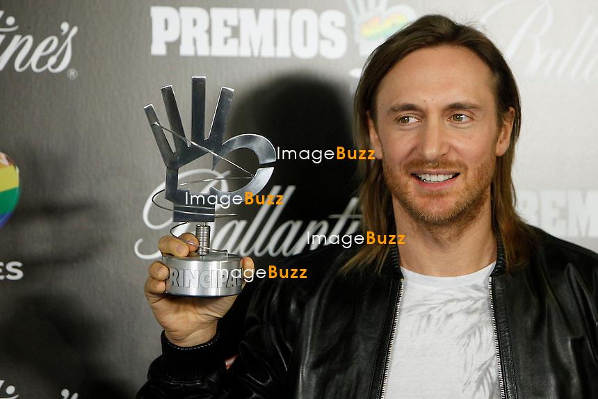 """David Guetta attends the """" 40 Principales Awards """" at Palacio de los Deportes in Madrid, Spain. January 24, 2013. ......."""