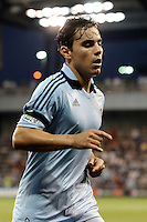 Omar Bravo Sporting KC midfielder goes to take a corner kick...Sporting KC defeated San Jose Earthquakes 1-0 at LIVESTRONG Sporting Park, Kansas City ,Kansas,