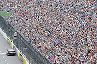 30 March - 1 April, 2012, Martinsville, Virginia USA.Denny Hamlin, crowd, fans.(c)2012, Scott LePage.LAT Photo USA