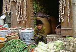 Uighur boy, Kashgar, Xinjiang region, China