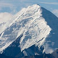 Summit of Mt Brooks of the Alaska Range mountains in Denali National Park, interior, Alaska.