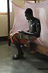 A girl studies in the Mary Morris Orphanage, run by the United Methodist Church in Kamina, Democratic Republic of the Congo.