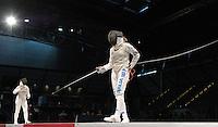 European Championships Fencing 2010 / Fecht Europameisterschaft 2010 in Leipzig - Competition Championat d'europe - im Bild: Valentina Vezzali (ITA, new european champion foil women 2010) here during the final match of the team competition aigainst the German team  . Foto: Norman Rembarz..Norman Rembarz , Autorennummer 41043728 , Augustenstr. 2, 04317 Leipzig, Tel.: 01794887569, Hypovereinsbank: BLZ: 86020086, KN: 357889472, St.Nr.: 231/261/06432 - Jegliche kommerzielle Nutzung ist honorar- und mehrwertsteuerpflichtig! Persönlichkeitsrechte sind zu wahren. Es wird keine Haftung übernommen bei Verletzung von Rechten Dritter. Autoren-Nennung gem. §13 UrhGes. wird verlangt. Weitergabe an Dritte nur nach  vorheriger Absprache..