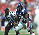 Ole Miss' Ralph Williams (44) at Vaught-Hemingway Stadium in Oxford, Miss. on Saturday, September 24, 2011. Georgia won 27-13.