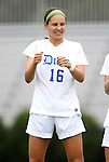 21 August 2011: Duke's Laura Weinberg. The Duke University Blue Devils defeated the University of South Carolina Gamecocks 2-0 at Koskinen Stadium in Durham, North Carolina in an NCAA Women's Soccer game.
