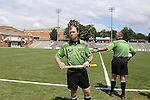 24 August 2014: Assistant referee Jude Carr. The Duke University Blue Devils played the Stanford University Cardinal at Fetzer Field in Chapel Hill, NC in a 2014 NCAA Division I Women's Soccer match. Stanford won the game 2-0.
