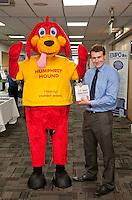 Matt Stansfield anf the Nicholas Humphreys Mascot