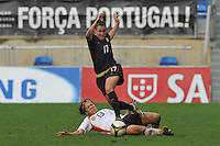 Shannon Boxx vs Germany at the 2010 Algarve Cup.