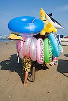 Inflatables, on the beach in Tuxpan. Veracruz, Mexico. June 18, 2007