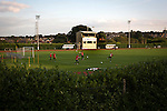 Connah's Quay Nomads 1 Llandudno 1, 20/09/2016. Deeside Stadium, Welsh Premier League. Home players warming up at the Deeside Stadium before Connah's Quay Nomads played Llandudno in a Welsh Premier League match. Both clubs represented Wales in the 2016-17 Europa League, the first time either had competed in European competition. The match ended in a 1-1 draw, watched by 181 spectators. Photo by Colin McPherson.