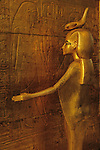 Detail of goddess Selket surrounding shrine for canopic vases, wood with stucco, gilding and glass paste, Egyptian Museum, Cairo, Pharaoh Tutankhamun, 18th dynasty, Egypt,Tutankhamun Book, Page 10