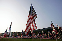 The Kiwanis Club of Marietta placed 2,996 flags at Kennesaw Mountain National Battlefield Park in remembrance of people who died in the terrorist attacks of five years ago.<br />