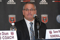 DC United General Manager Dave Kasper at the presentation of the new  Head Coach for DC United, RFK stadium November 29, 2010.