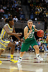 03 APR 2012:  Kayla McBride (23) of the University of Notre Dame drives against Kimetria Hayden (1) of Baylor University during the Division I Women's Basketball Championship held at the Pepsi Center in Denver, CO.  Jamie Schwaberow/NCAA Photos