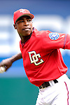 21 May 2006: Alfonso Soriano, outfielder for the Washington Nationals, takes some warmup tosses prior to a game against the Baltimore Orioles at RFK Stadium in Washington, DC. The Nationals defeated the Orioles 3-1 to take 2 of 3 games in their first inter-league series...Mandatory Photo Credit: Ed Wolfstein Photo..