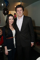 NO REPRO FEE. 3/2/2011. OPENING OF THE COUNTER. Fiona Mc Greevy and David Quinn are pictured at the opening of the Counter restaurant on Suffolk St Dublin. Picture James Horan/Collins Photos