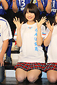 Yui Takano (NMB48), .FEBRUARY 16, 2012 - Football / Soccer : Speranza FC Osaka Takatsuki Press conference at NMB48 Theater in Osaka, Japan. Japanese ladies soccer team Speranza FC Osaka Takatsuki hold a joint press conference with members of NMB48, the Osaka version of the popular AKB48 idol group. Both women's soccer and girls idol groups are hugely popular in Japan after the national team's success at the Womens Soccer World Cup and the growing success of AKB48.