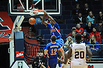 Ole Miss vs. SMU's Ryan Manuel (1) dunks at the C.M. &quot;Tad&quot; Smith Coliseum in Oxford, Miss. on Tuesday, January 3, 2012. Ole Miss won 50-48.
