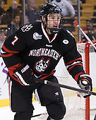 Mike McMurtry (NU - 7) - The Northeastern University Huskies defeated the Boston University Terriers 3-2 in the opening round of the 2013 Beanpot tournament on Monday, February 4, 2013, at TD Garden in Boston, Massachusetts.