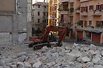 Construction work on Rue Gouraud, Gemayzeh, Beirut