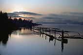 Sunrise over Saxman Harbor, Ketchikan, Alaska.