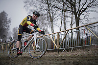 Belgian U23 CX Champion Thijs Aerts (BEL/U23/Telenet-Fidea) leading the race early on<br /> <br /> GP Sven Nys 2017