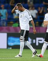 FUSSBALL  EUROPAMEISTERSCHAFT 2012   VORRUNDE Niederlande - Deutschland       13.06.2012 Jerome Boateng (Deutschland) ist nach dem Abpfiff enttaeuscht