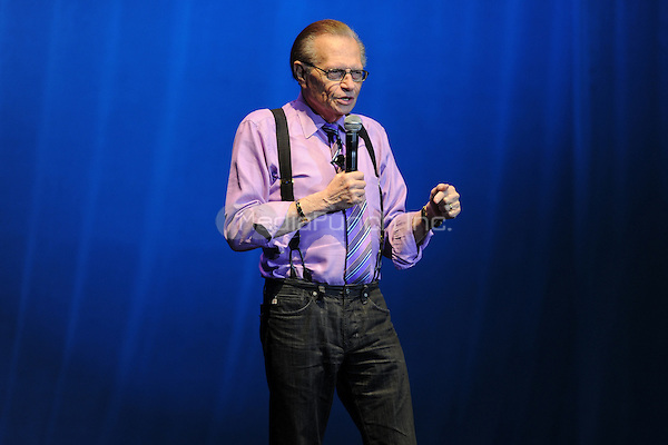 HOLLYWOOD FL - JANUARY 25 : Larry King performs at Hard Rock live held at the Seminole Hard Rock hotel & Casino on January 25, 2012 in Hollywood, Florida. © Mpi04 / MediaPunch Inc.