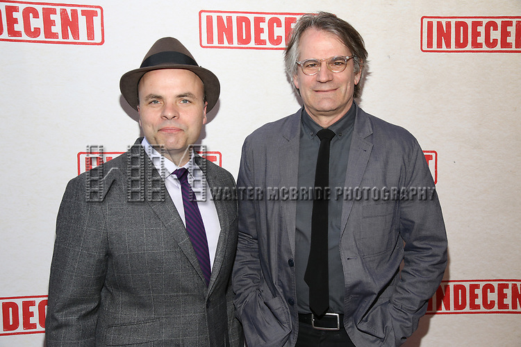 J.T. Rogers and Bartlett Sher attends the Broadway Opening Night Performance of  'Indecent' at The Cort Theatre on April 18, 2017 in New York City.
