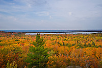 Fall color view from Thomas Rock County Park near Big Bay in Marquette County Michigan's Upper Peninsula.
