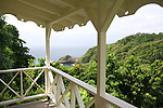 Scenes from Dominica's Beau Rive Hotel, including rooms and owner Mark Steele
