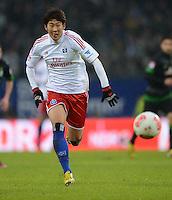 FUSSBALL   1. BUNDESLIGA   SAISON 2012/2013    19. SPIELTAG Hamburger SV - SV Werder Bremen                          27.01.2013 Heung Min Son (Hamburger SV) Einzelaktion am Ball
