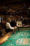 Craps table and players in Las Vegas Nevada, Caesars Palace and Casino, gaming, gambling, craps, craps players, model released, craps table, NV, Las Vegas, Photo nv223-17949..Copyright: Lee Foster, www.fostertravel.com, 510-549-2202,lee@fostertravel.com