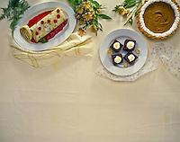 Various dessert dishes