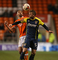 Blackpool's Colin Daniel battles with Stevenage's Fraser Franks<br /> <br /> Photographer Alex Dodd/CameraSport<br /> <br /> The EFL Sky Bet League Two - Blackpool v Stevenage - Tuesday 14th March 2017 - Bloomfield Road - Blackpool<br /> <br /> World Copyright &copy; 2017 CameraSport. All rights reserved. 43 Linden Ave. Countesthorpe. Leicester. England. LE8 5PG - Tel: +44 (0) 116 277 4147 - admin@camerasport.com - www.camerasport.com