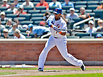 25 July 2012: New York Mets second baseman Jordany Valdespin in action against the Washington Nationals at Citi Field in Flushing, NY. The Nationals defeated the Mets 5-2 to sweep their 3-game series. Mandatory Credit: Ed Wolfstein Photo