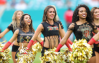 Miami Dolphins Cheerleader Holly Warden from Bristol  England makes her  first home appearance   on the 25th September 2016 at  the Hard Rock Stadium Miami Florida