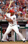 16 June 2006: Jose Guillen, right fielder for the Washington Nationals, at bat against the New York Yankees at RFK Stadium, in Washington, DC. The Yankees defeated the Nationals 7-5 in the first meeting of the two franchises...Mandatory Photo Credit: Ed Wolfstein Photo...