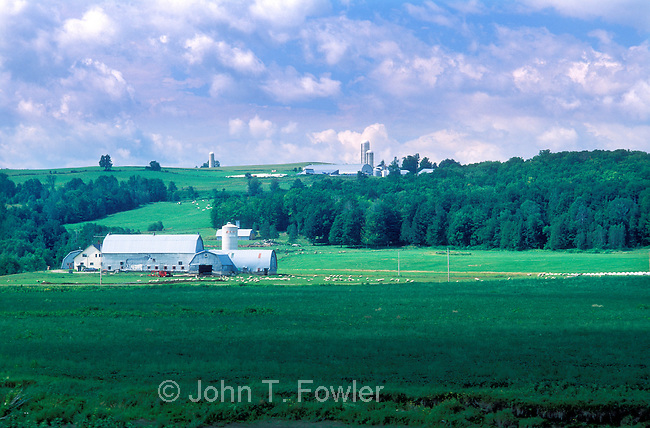 Rolling farmland of Quebec's Eastern Townships