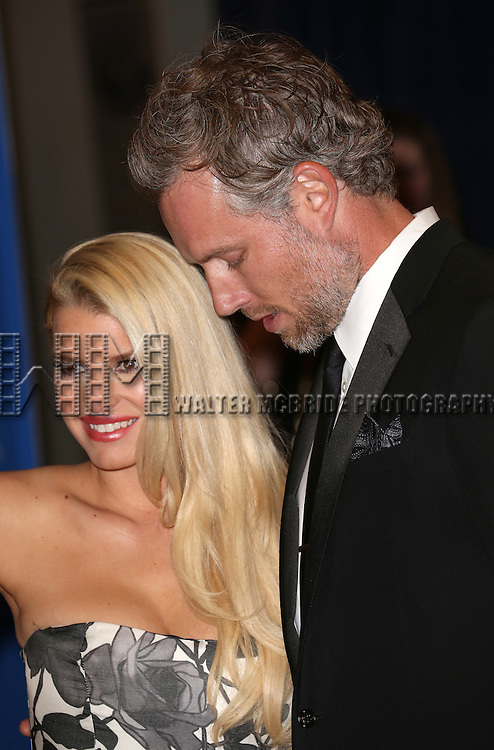 Jessica Simpson and Eric Johnson attend the 100th Annual White House Correspondents' Association Dinner at the Washington Hilton on May 3, 2014 in Washington, D.C.