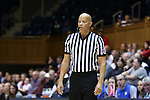 13 November 2016: Official Daryl Humphry. The Duke University Blue Devils hosted the University of Pennsylvania Quakers at Cameron Indoor Stadium in Durham, North Carolina in a 2016-17 NCAA Division I Women's Basketball game. Duke defeated Penn 68-55.